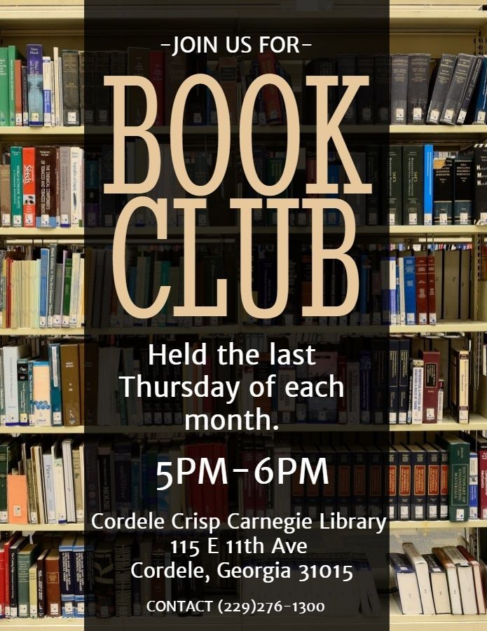 General book club flyer